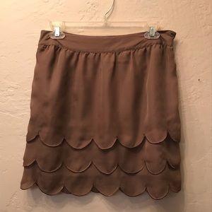 Elle size 4 scallop ruffle skirt